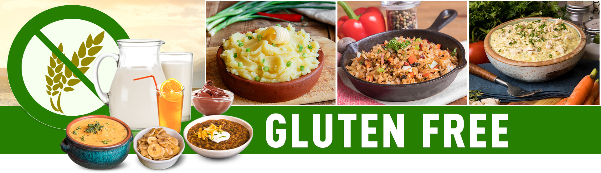 Gluten Free Emergency Food Storage - an assortment of gluten free emergency foods