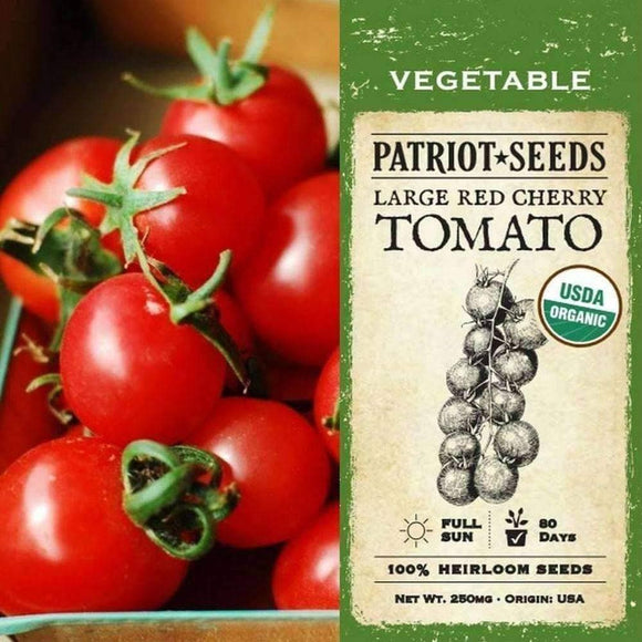 Organic Large Red Cherry Tomato Seeds (250mg) - My Patriot Supply