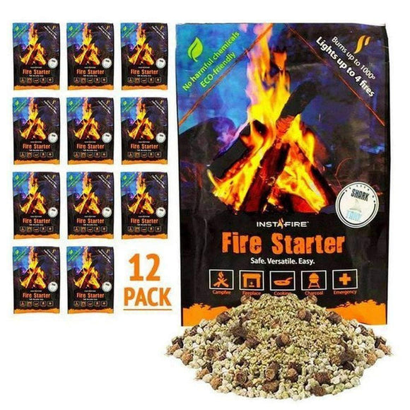 Instafire Fire Starter Pouches (12 packs) - My Patriot Supply