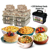 3-Month Food Supply + 100 Heirloom Seed Packets Ammo Can - My Patriot Supply