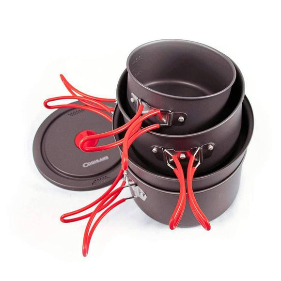 Hard Anodized Aluminum Cookset (6 pieces) - My Patriot Supply