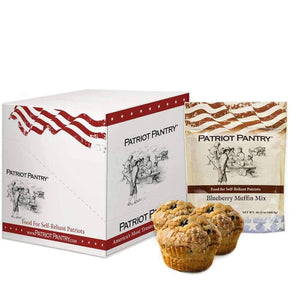 Blueberry Muffin Mix Case Pack (72 servings, 6 pk.) - My Patriot Supply
