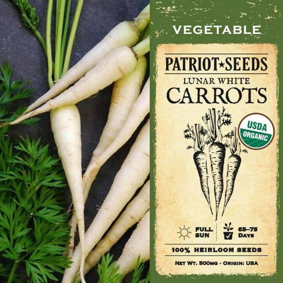 Organic Lunar White Carrot Seeds (500mg) - My Patriot Supply
