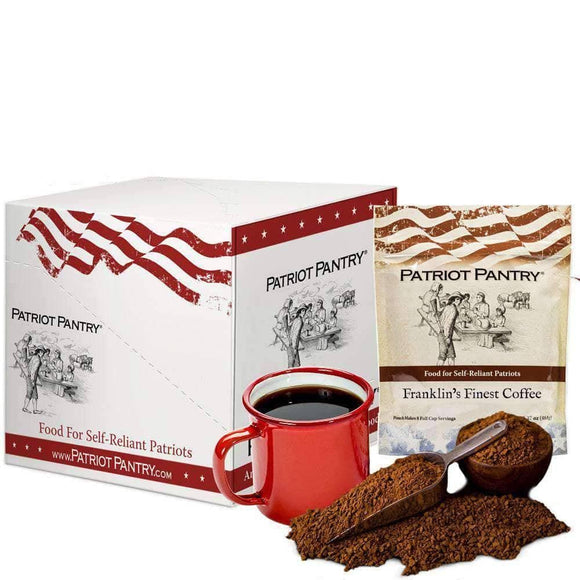 Franklin's Finest Coffee Case Pack (320 servings, 6 pk). - My Patriot Supply
