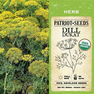 Dill Dukat Herb Seeds (500mg) - My Patriot Supply