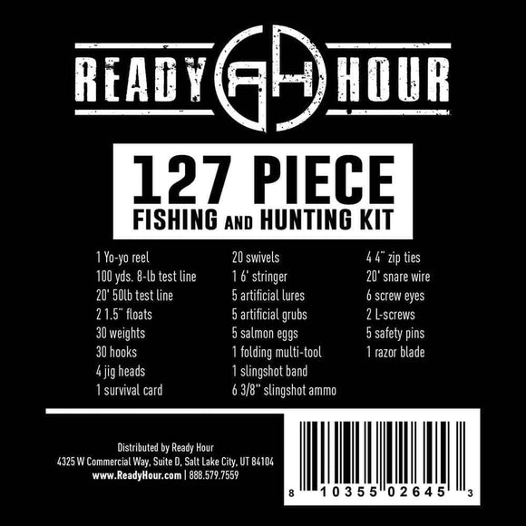 Fishing and Hunting Kit by Ready Hour (127 pieces)