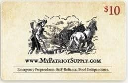 $10 My Patriot Supply Gift Card - My Patriot Supply