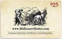 $25 My Patriot Supply Gift Card - My Patriot Supply