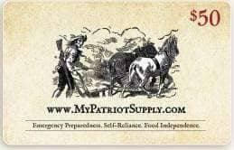$50 My Patriot Supply Gift Card - My Patriot Supply