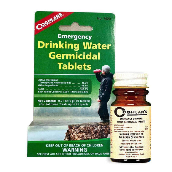 Drinking Water Treatment (50 germicidal tablets) - My Patriot Supply