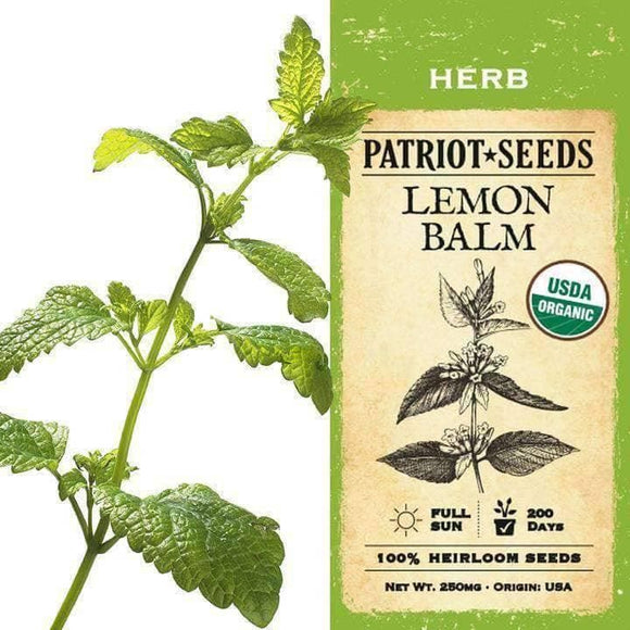Organic Lemon Balm Herb Seeds (250mg) - My Patriot Supply