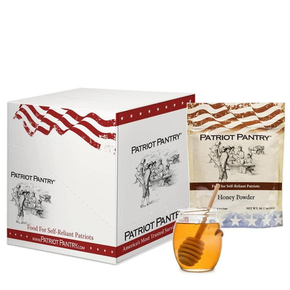 Honey Powder Case Pack (444 servings, 6 pk.) - My Patriot Supply