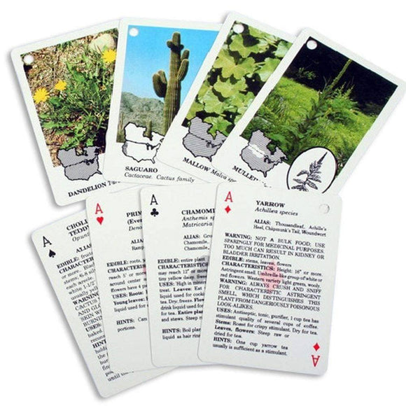 Edible Wild Foods Playing Cards - My Patriot Supply
