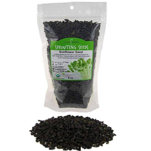 Organic Sunflower Sprouting Seeds (8 ounces) - My Patriot Supply