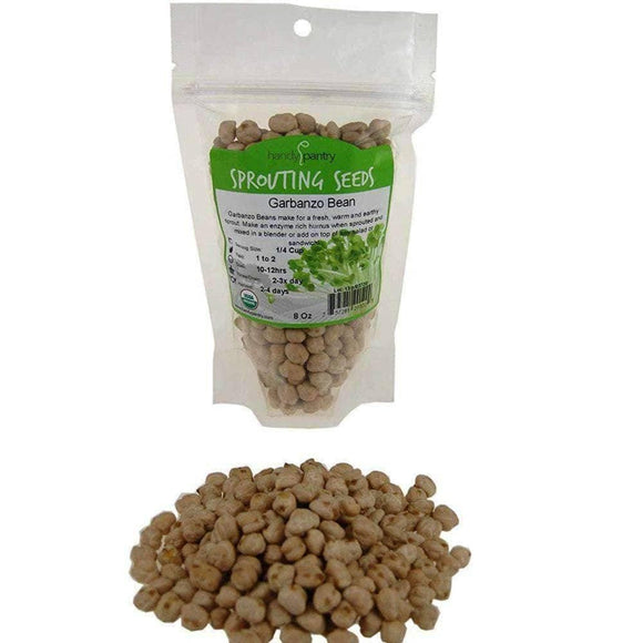 Organic Garbanzo Bean Sprouting Seeds (8 ounces) - My Patriot Supply