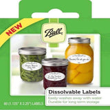 Ball Dissolvable Canning Jar Labels (60 count) - My Patriot Supply
