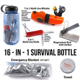 16 in 1 Survival Bottle Kit - My Patriot Supply
