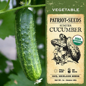 Organic Sumter Cucumber Seeds (1g) - My Patriot Supply