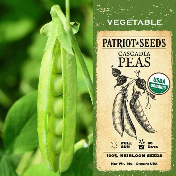 Organic Cascadia Pea Seeds (14g) - My Patriot Supply