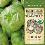 Organic Grande Rio Verde Tomatillo Tomato Seeds (500mg) - My Patriot Supply
