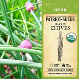 Organic Garlic Chives Herb Seeds (500mg) - My Patriot Supply