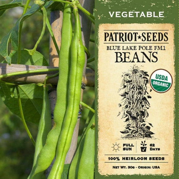 Organic Blue Lake Pole FM Beans (30g) - My Patriot Supply