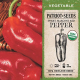Organic Marconi Red Sweet Pepper Seeds (250mg) - My Patriot Supply