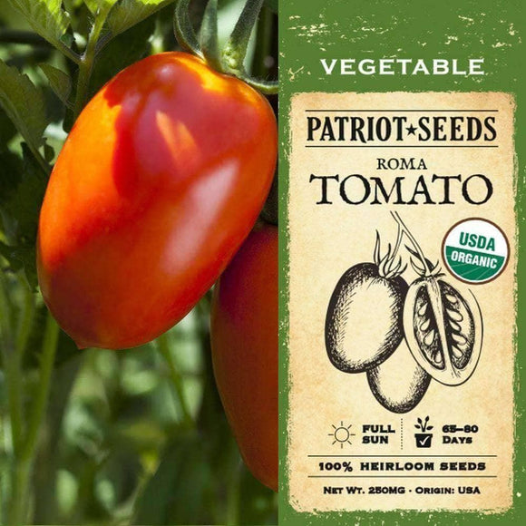 Organic Roma Tomato Seeds (250mg) - My Patriot Supply