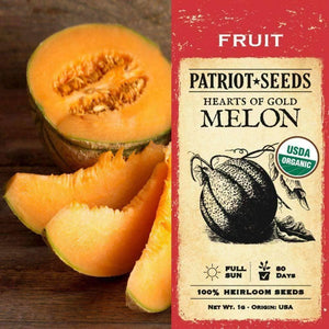 Organic Heart of Gold Melon Seeds (1g) - My Patriot Supply