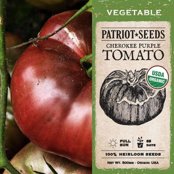 Organic Cherokee Purple Tomato Seeds (500mg) - My Patriot Supply
