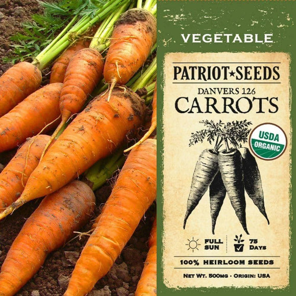 Organic Danvers 126 Carrot Seeds (500mg) - My Patriot Supply