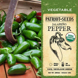 Organic Jalapeno Hot Pepper Seeds (250mg) - My Patriot Supply