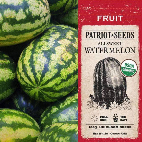 Organic Allsweet Watermelon Seeds (2g) - My Patriot Supply