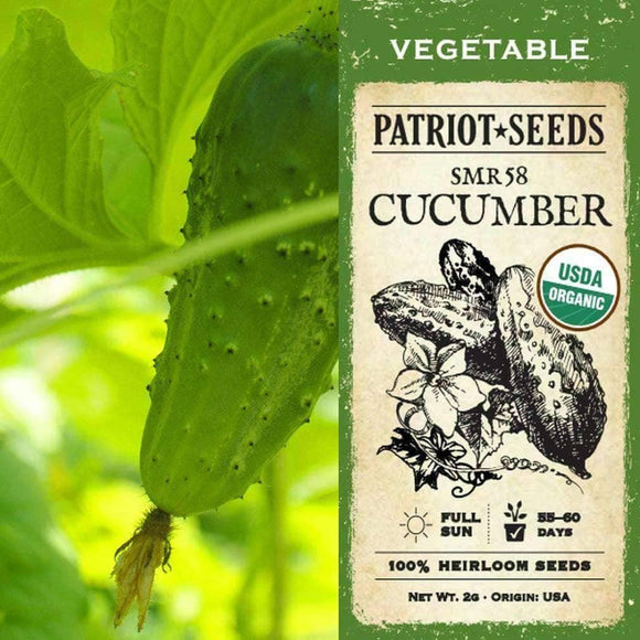 Organic SMR 58 Cucumber Seeds (2g) - My Patriot Supply