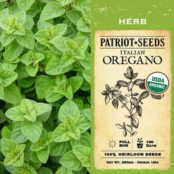 Organic Italian Oregano Herb Seeds (250mg) - My Patriot Supply