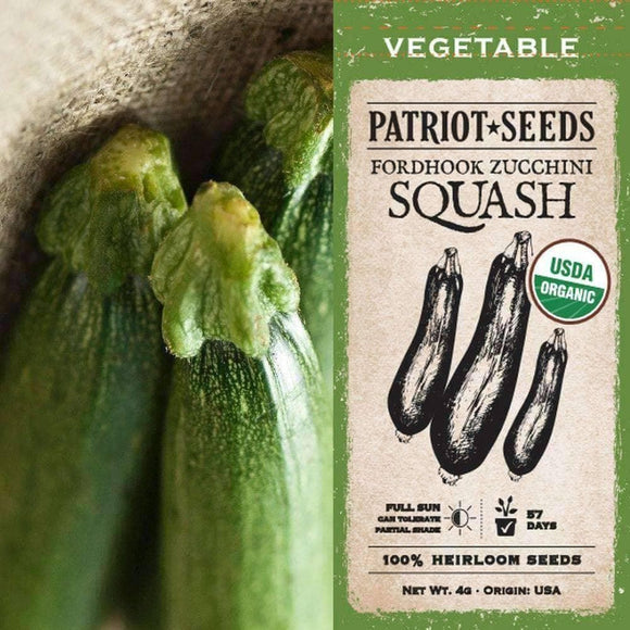 Organic Fordhook Summer Squash Seeds (4g) - My Patriot Supply