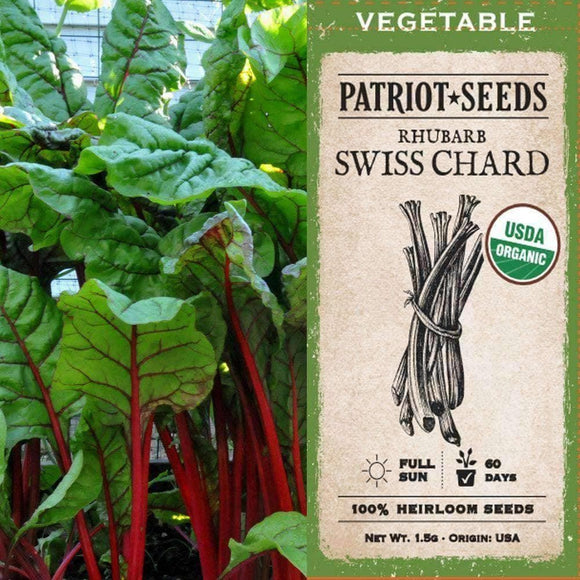 Organic Rhubarb Swiss Chard Seeds (1.5g) - My Patriot Supply
