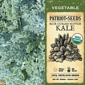 Organic Blue Curled Scotch Kale Seeds (500mg) - My Patriot Supply