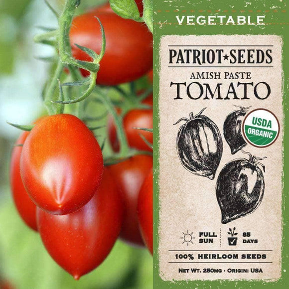 Organic Amish Paste Tomato Seeds (250mg) - My Patriot Supply