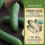 Organic Tendergreen Cucumber Seeds (1g) - My Patriot Supply