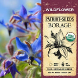 Organic Borage  Wildflower Seeds (500mg) - My Patriot Supply