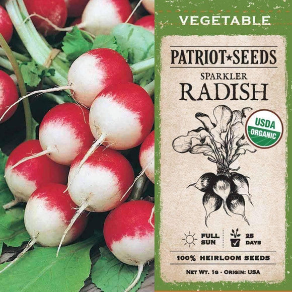 Organic Sparkler Radish Seeds (1g) - My Patriot Supply