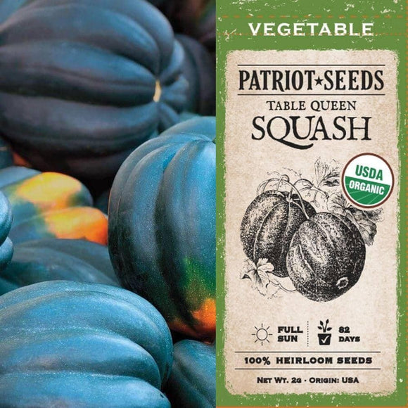 Organic Table Queen Acorn Winter Squash Seeds (4g) - My Patriot Supply