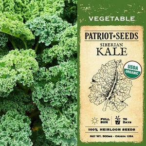 Organic Siberian Kale Seeds (500mg) - My Patriot Supply