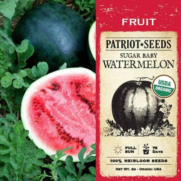 Organic Sugar Baby Watermelon Seeds (2g)