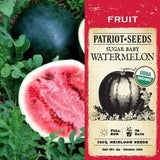 Organic Sugar Baby Watermelon Seeds (2g) - My Patriot Supply