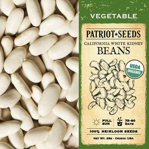 Organic California White Kidney Beans (28g) - My Patriot Supply
