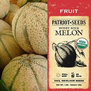 Organic Honeyrock Melon Seeds (1.5g)