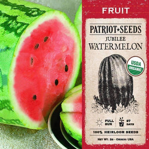 Organic Jubilee Watermelon Seeds (2g) - My Patriot Supply