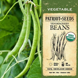 Organic Tendergreen Beans (15g) - My Patriot Supply